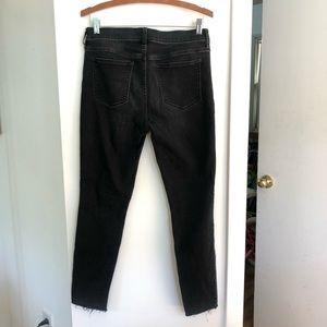 J crew raw hem jeans straight 30 washed black
